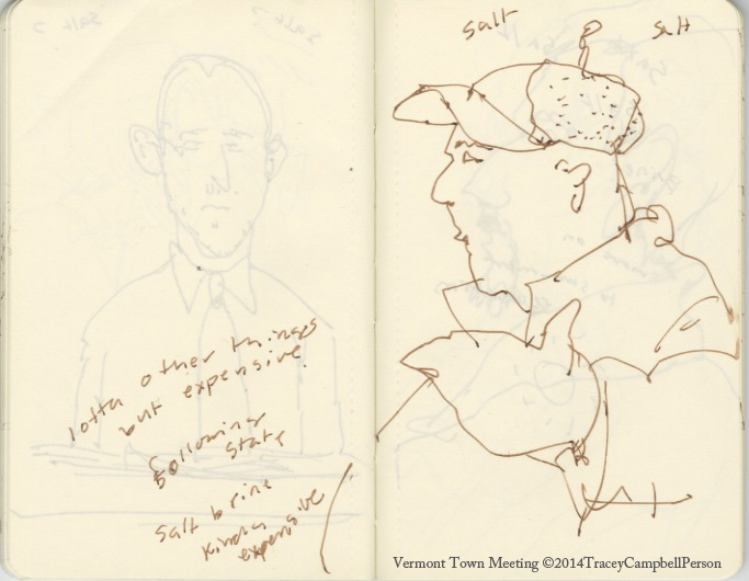 Sketches from Jericho, Vermont Town Meeting, 2012