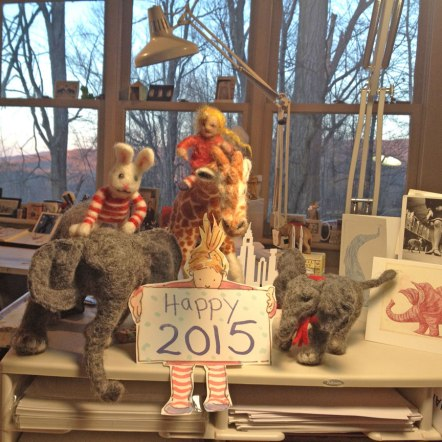 Elephant and Gracie…Happy New Year 2015